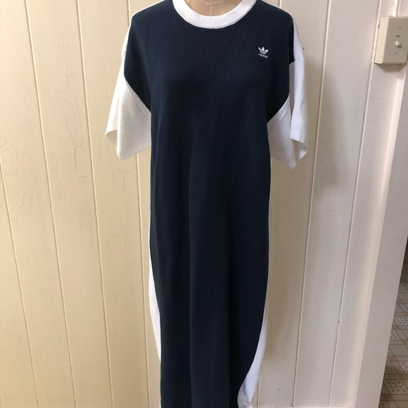 adidas Dresses & Skirts - ADIDAS X HYKE Japan sz S Knit Sweater Midi Dress
